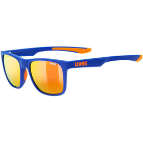UVEX LGL 42 Brille, blue orange/mirror red